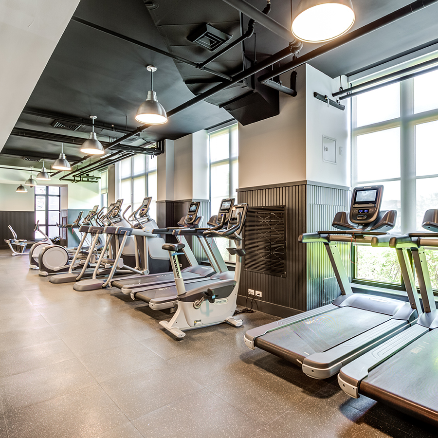 Fit by 363 state-of-the-art fitness center treadmills and ellipticals