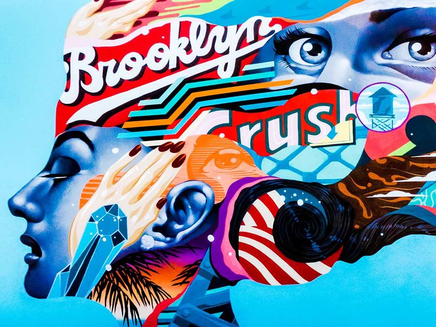 Brooklyn Crush Mural by Tristan Eaton