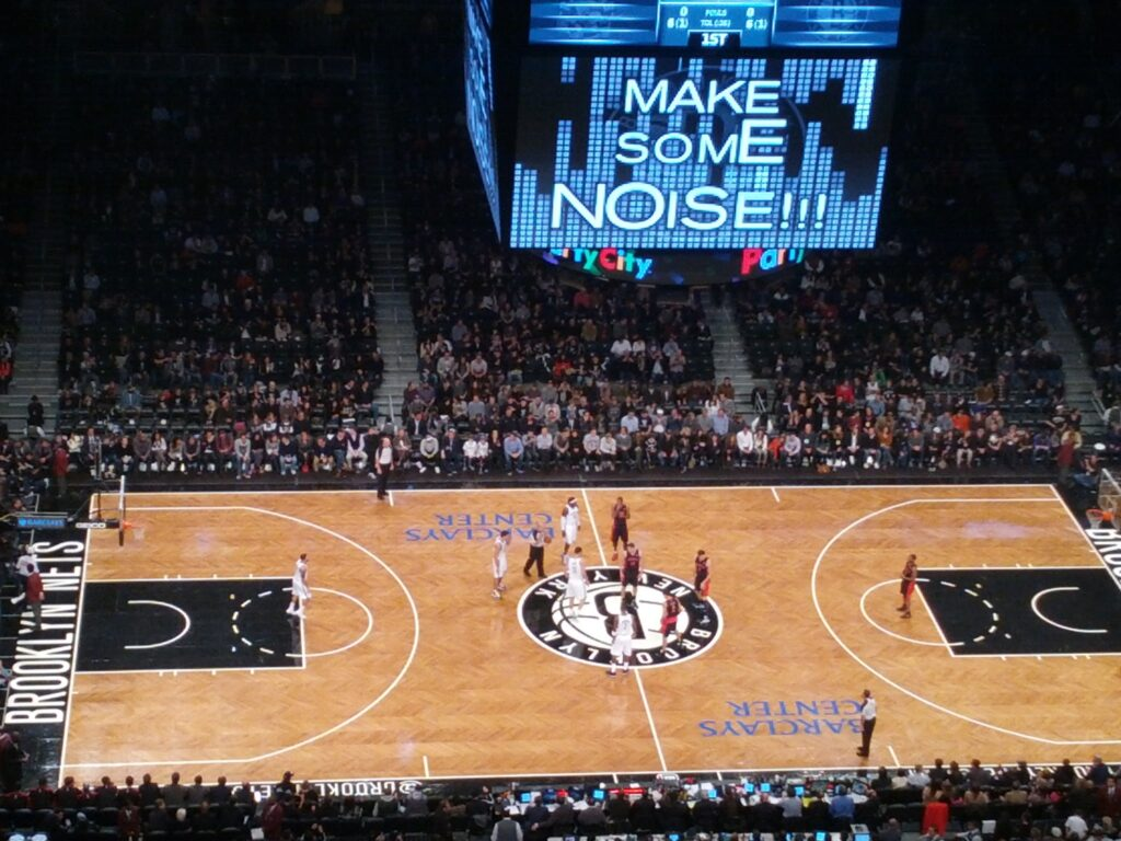 Brooklyn Nets debut game in the Barclay Stadium